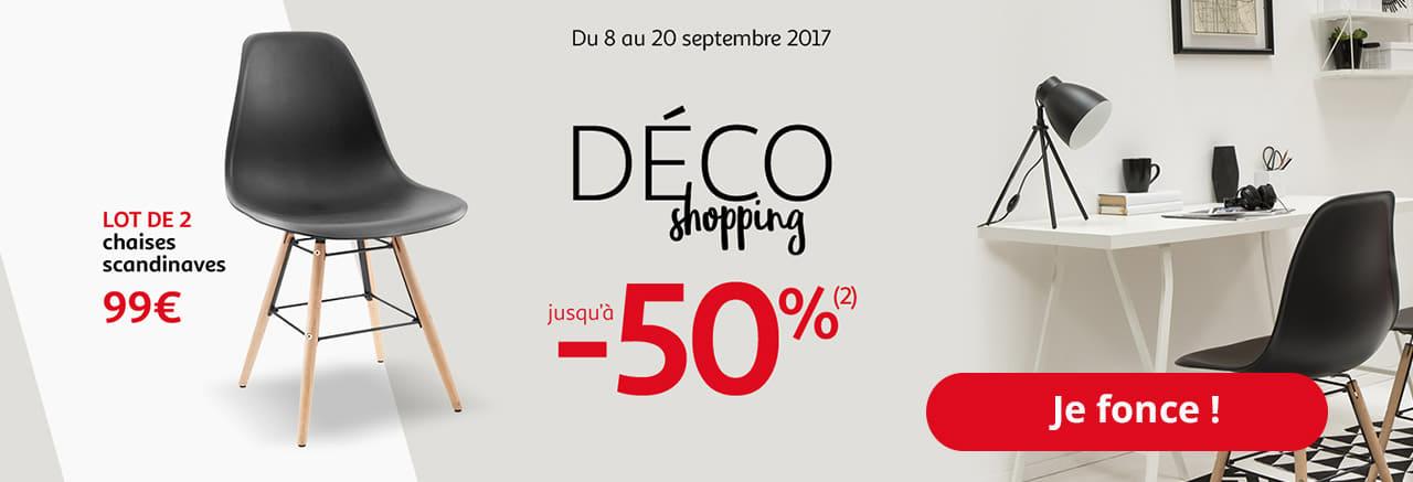 Du 8 au 20 septembre 2017 Déco shopping jusqu'à -50% (2)