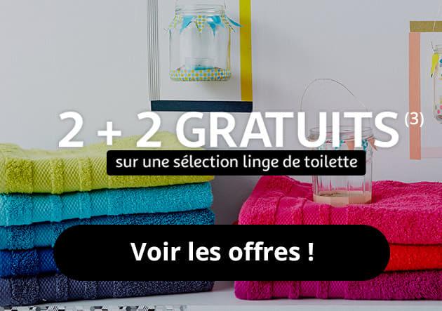 2+2 gratuit sur une sélection linge de toilette (3)