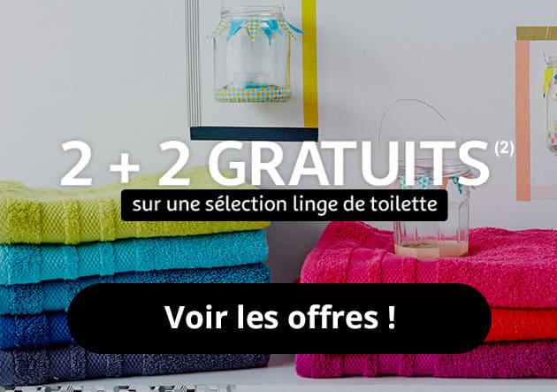 2+2 gratuit sur une sélection linge de toilette