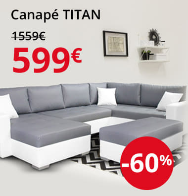 Canapé Titan 599€ -60%