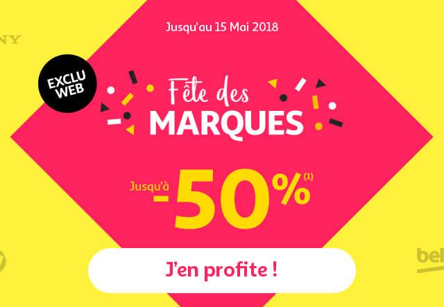 Jusqu'au 15 mai 2018 Fête des Marques jusqu'à -50%