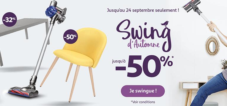 Jusqu'au 24 septembre, swing d'automne jusqu'à -50%