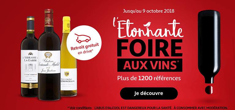 Jusqu'au 9 octobre, découvrez notre étonnante foire aux vins