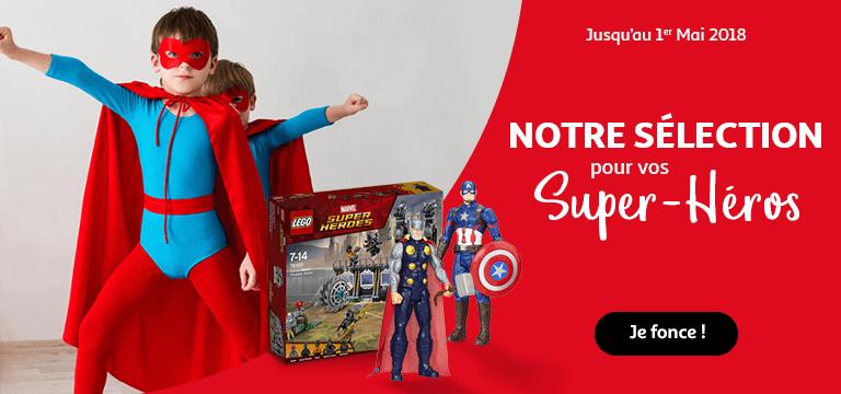 Découvrez notre sélection de jouets pour vos super-héros !