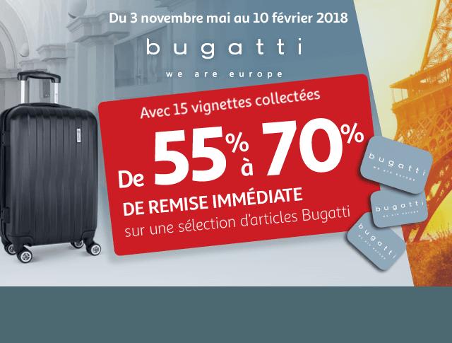 De 55 70 de remise imm diate sur la marque bugatti - Carte de fidelite auchan fr ...