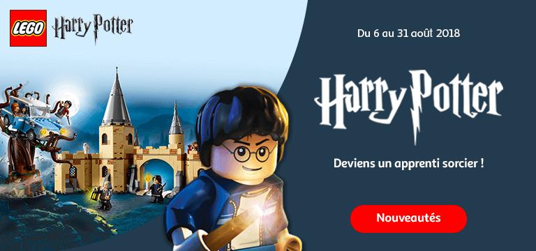 Du 06 au 31 août : Deviens un apprenti sorcier avec la sélection LEGO® Harry Potter!
