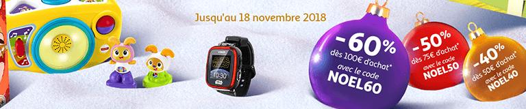 Jusqu'au 18 novembre : jusqu'à-60% dès 100€ d'achat sur les Jouets !
