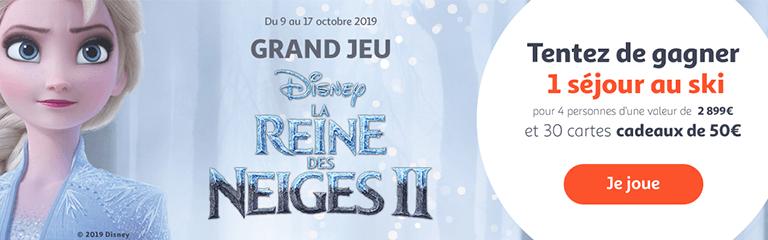 Grand jeu La reine des neiges 2