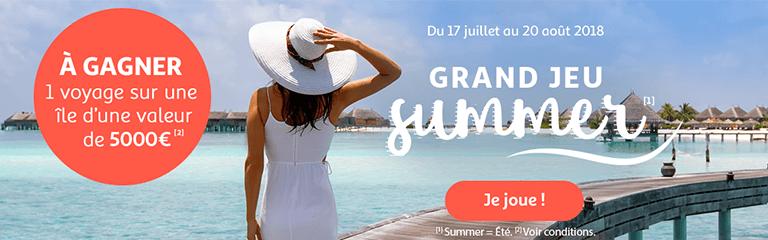 Du 17 juillet au 20 août 2018 : Grand Jeu Summer