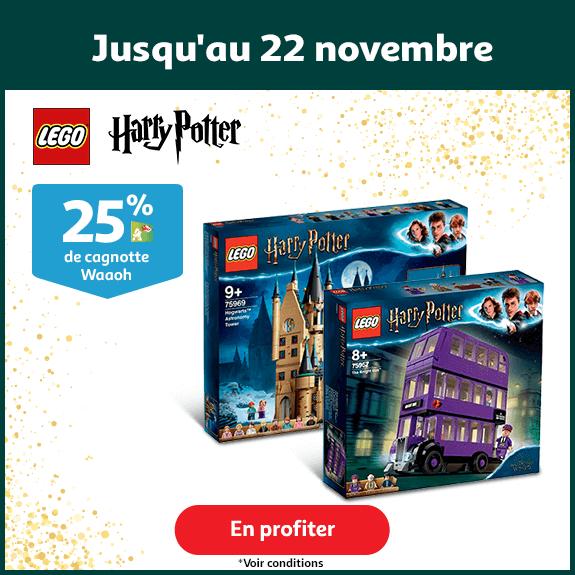 25% de cagnotte sur une sélection LEGO Harry Potter, jusqu'au 22 novembre