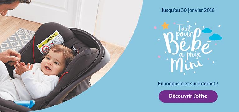 Jusqu'au 30 janvier 2018, tout pour bébé à prix mini