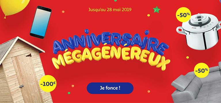 Jusqu'au 28 mai 2019, Anniversaire Méga Généreux