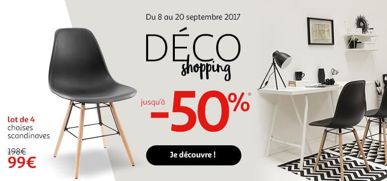 Du 8 au 20 septembre : Déco shopping jusqu'à -50%