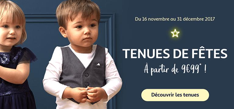 Du 16 novembre au 31 décembre : Tenues de fêtes à partir de 9€99