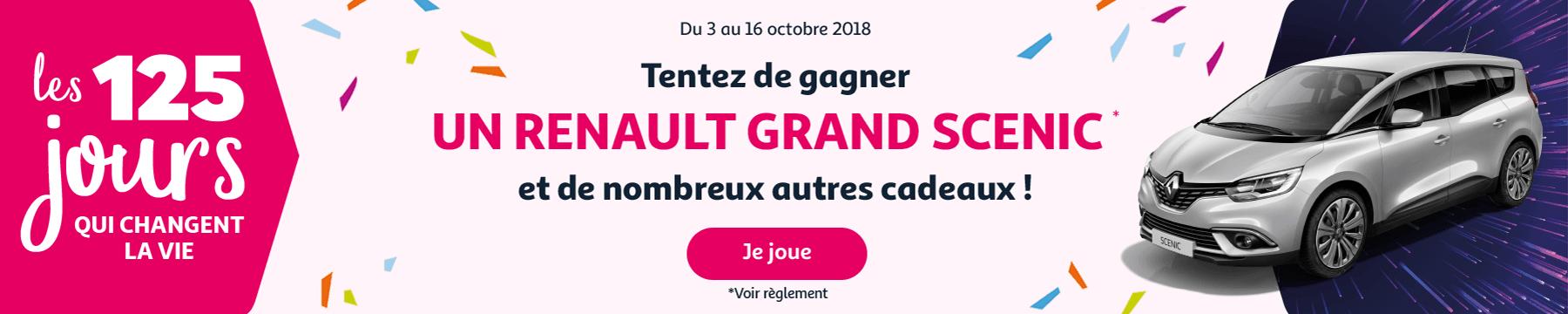 Grand Jeu Auchan - Gagnez un Renault Grand Scenic et de nombreux autres cadeaux
