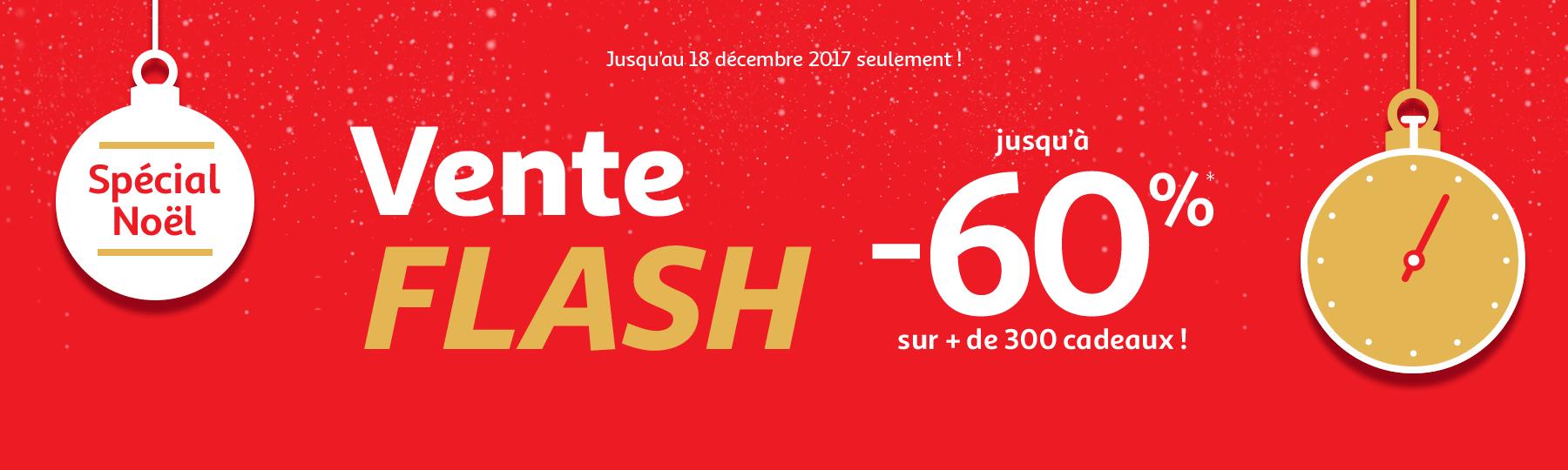 Jusqu'au 18 décembre : Vente Flash jusqu'à -60% sur + de 300 cadeaux !