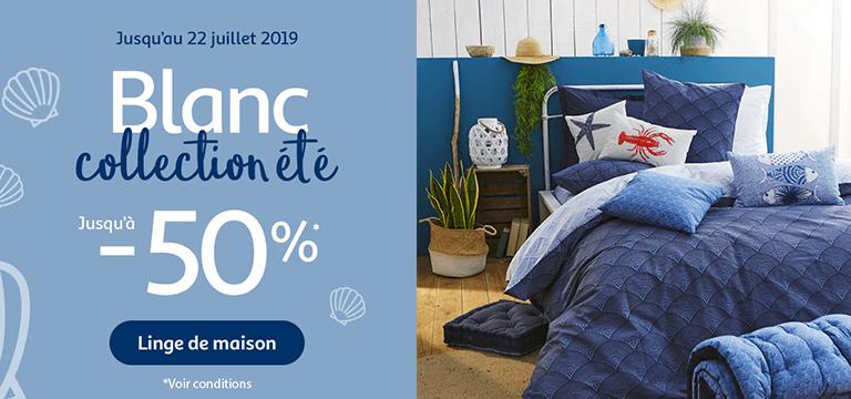 Jusqu'au 22 juillet 2019, Blanc collection été jusqu'à -50%