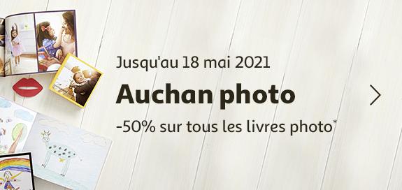 Auchan photo, -50% sur tous les livres photo, jusqu'au 18 mai 2021