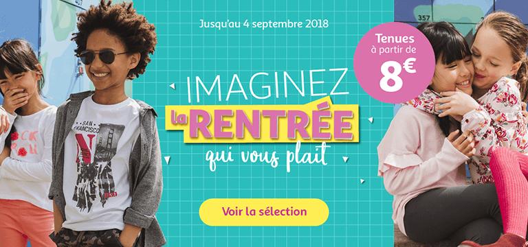 Jusqu'au 04 septembre, la tenue de rentrée des classes à partir de 8€