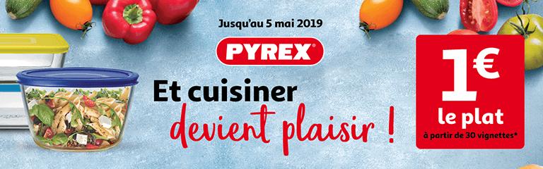 Jusqu'au 5 mai 2019 - Pyrex : et cuisiner devient plaisir !