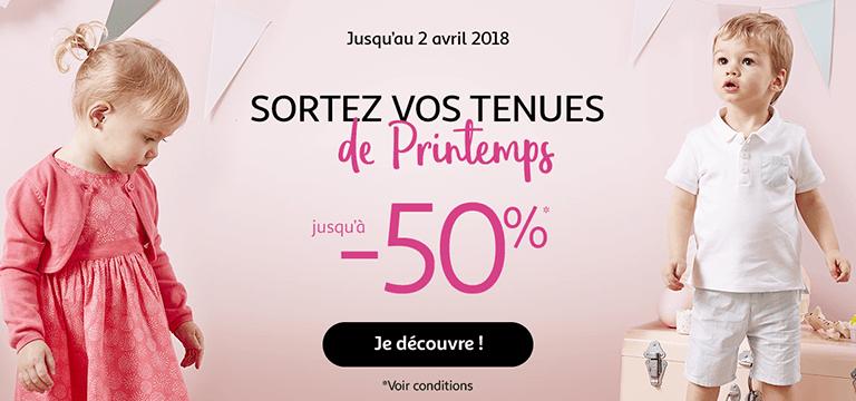Jusqu'au 2 avril : sortez vos tenues de printemps jusqu'à -50%