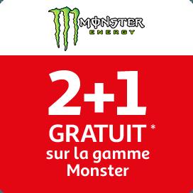 2+1 sur la gamme Monster