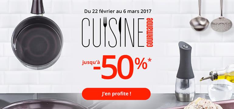 Cuisine gourmande, jusqu'à -50%