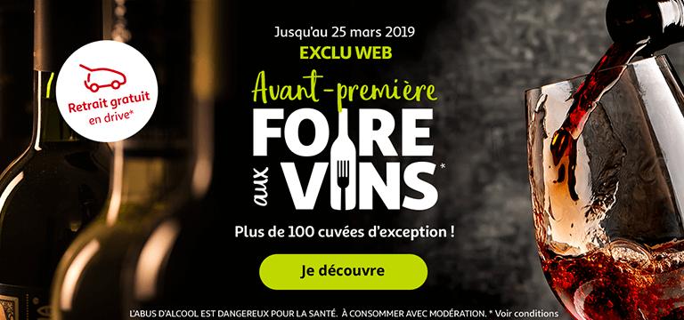 Jusqu'au 25 Mars 2019 : Avant-première Foire aux vins !