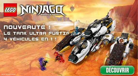 Nexo Knights<sup>&reg;</sup>; NINJAGO, Nouveauté ! Le tank ultra furtif 4 véhicules en1 !
