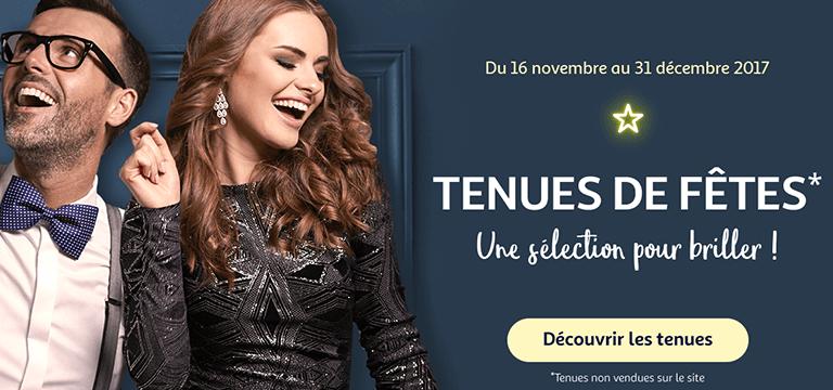 Du 16 novembre au 31 décembre 2017 : Tenues de fêtes* une sélection pour briller !