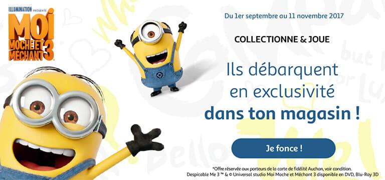 Du 01 septembre au 11 novembre 2017 : Les Minions débarquent en exclusivité dan ton magasin !
