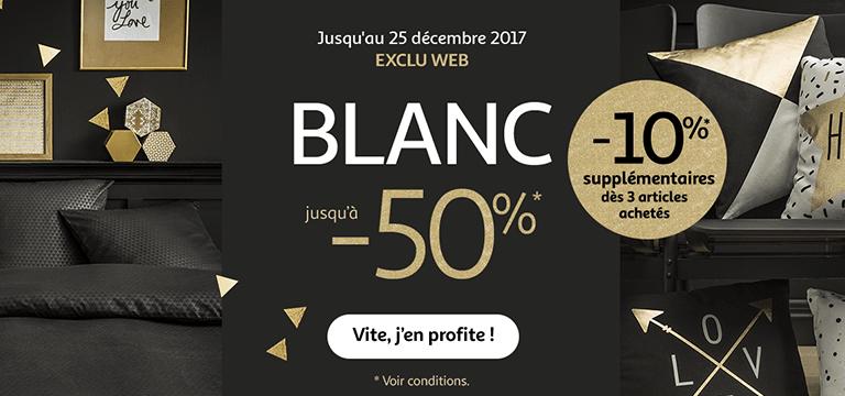 Jusqu'au 25 décembre : Nouvelle collection Blanc jusqu'à -50%* et -10%* supplémentaires dès 3 articles achetés