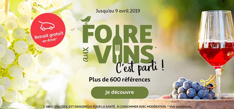 Jusqu'au 9 avril 2019 : Foire aux vins, c'est parti !