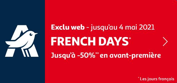 french days, jusqu'à -50% en avant-première, jusqu'au 4 mai