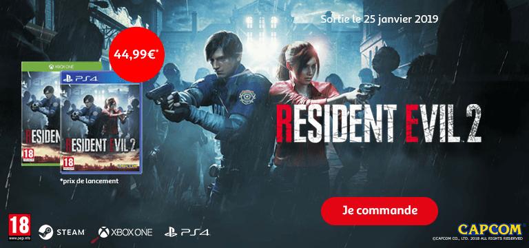 Commandez Resident Evil 2 à 44,99€ - Sortie le 25 janvier 2019