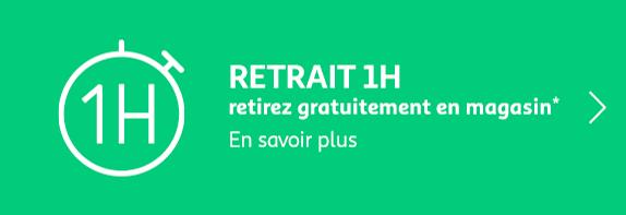 Retrait 1H. retirez gratuitement en magasin