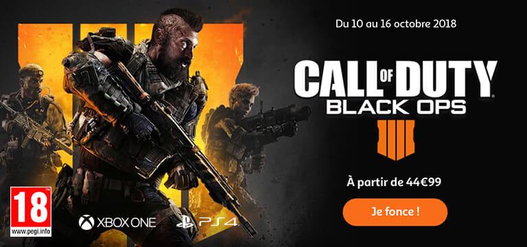 Jusqu'au 16 octobre 2018, Call Of Duty Black OPS 4 à partir de 44,99€