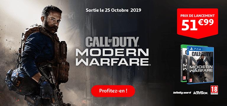 Call of Duty modern warfare, prix de lancement 59€99