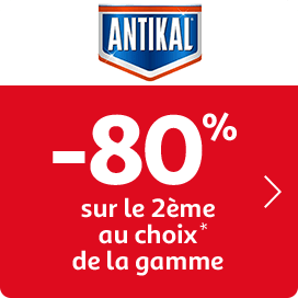 -80% sur le 2ème au choix sur la gamme Antikal