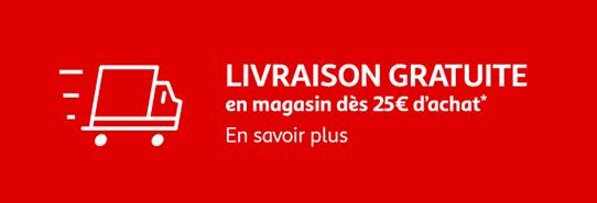 Livraison gratuite en magasin dès 25€ d'achat