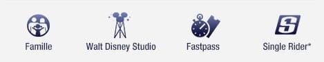 Famille, Walt Dinsey Studio, FastPass, Single Rider®