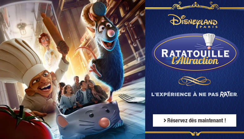 L'attraction ratatouille à Disneyland® Paris