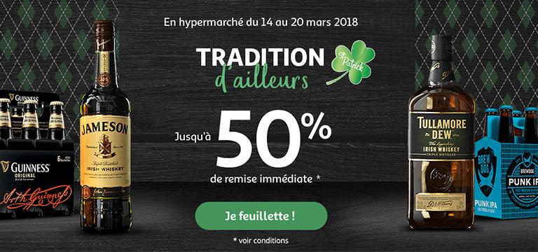 En hypermarché du 14 au 20 mars 2018 : traditions d'ailleurs, jusqu'à -50% de remise immédiate