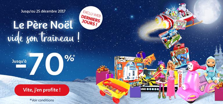 Jusqu'au 25 décembre, profitez d'offres jouets jusqu'à -70% en exclu web