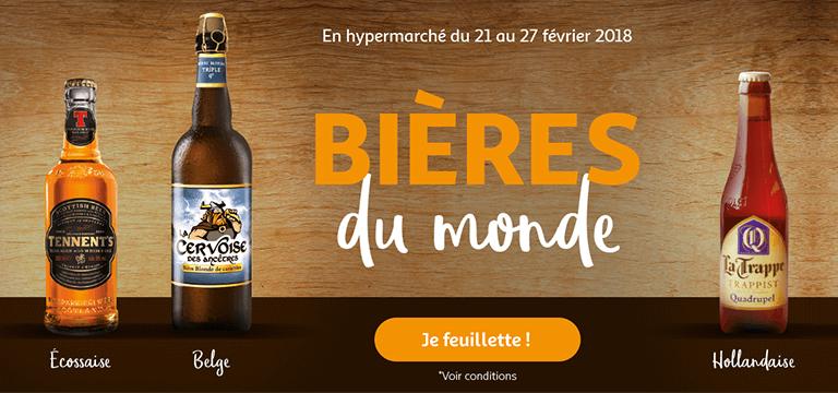 En hypermarché du 21 au 27 février 2018 : bières du monde
