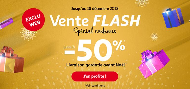 Jusqu'au 18 décembre 2018, vente flash spécial cadeaux