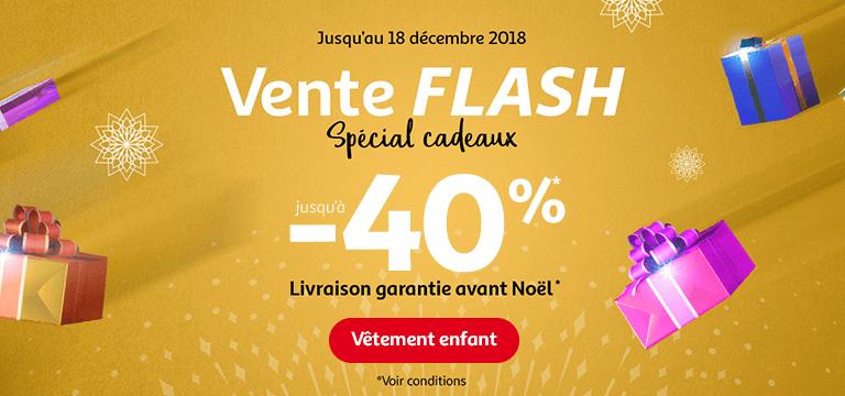 Jusqu'au 18 décembre 2018 : exclu web, vente flash spéciale cadeaux de Noël