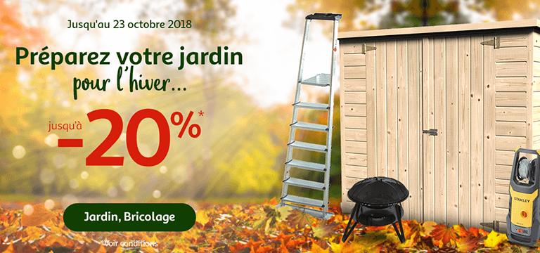Jusqu'au 23 octobre : préparez votre jardin pour l'hiver jusqu'à -20%
