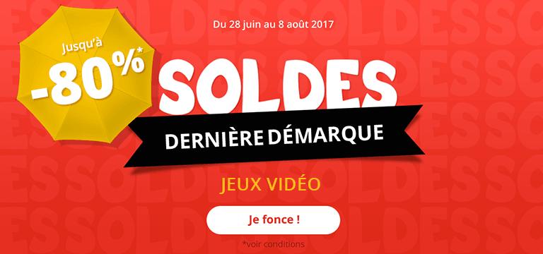Du 25 au 31 Juillet : Soldes Jeux-video jusqu'à -80%