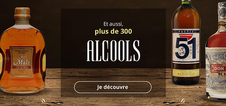 Et aussi, plus de 300 alcools